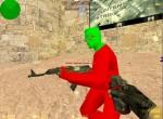 Красная модель террориста в профиль