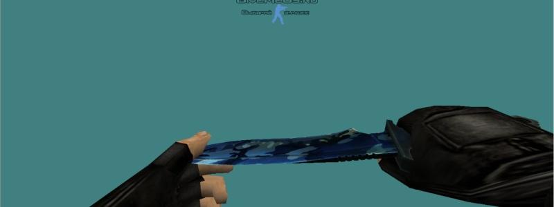 Общий вид модели ножа синимй камуфляяж