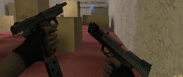 Смена магазина в одном из пистолетов Dual Elites